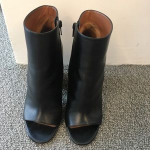 Givenchy Leather Peep-toe Cylinder-heel Booties
